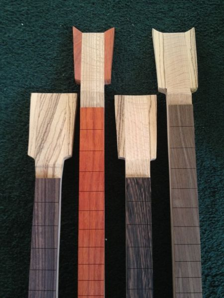 necks in progress - Cigar Box Nation