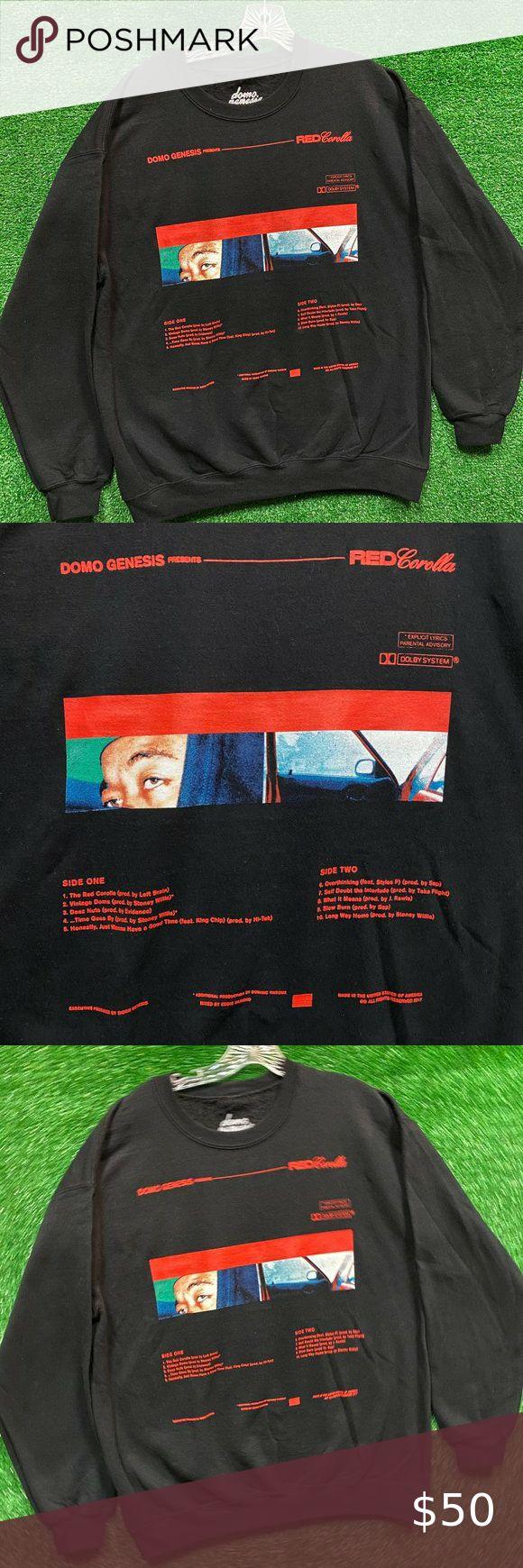 Domo Genesis Ofwgkta Red Corolla Rap Crewneck L Happy Hoodie Rock T Shirts Earl Sweatshirt Hoodie [ 1740 x 580 Pixel ]