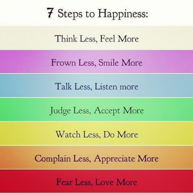 7 Steps To Happiness happy happiness positive emotions mental health confidence self love self improvement self care affirmations self help emotional health daily affirmations