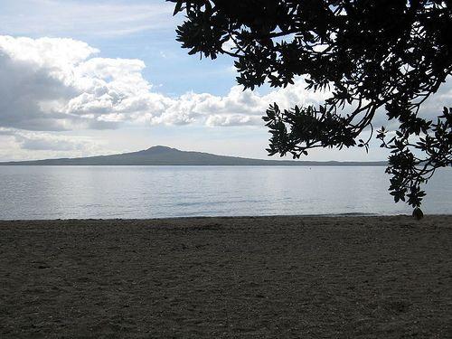 Rangitoto Island from Kohimarama Beach