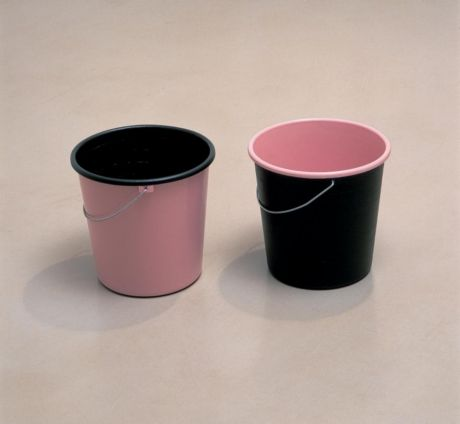 Anna Barriball Buckets , 2002 Paint on buckets 27 x 61 x 28 cm