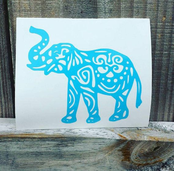 Tribal Elephant Decal by SSouthernGifts on Etsy