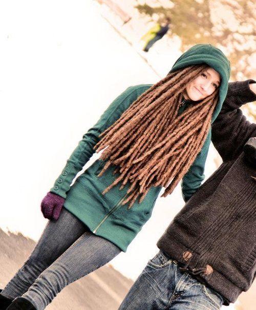 Ok, I'll admit it....I kinda love this girl's dreadlocks.