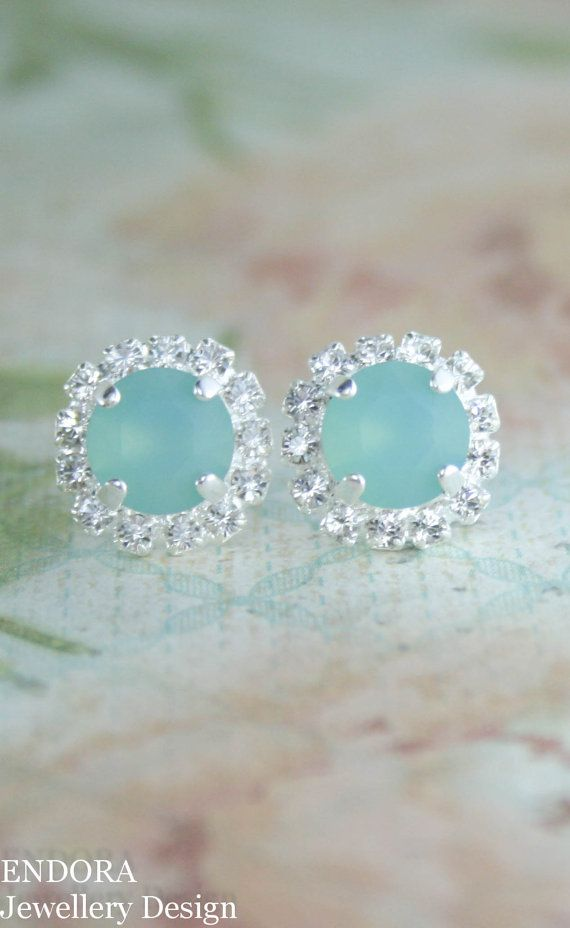 Seafoam earrings | seafoam wedding | beach wedding | bridesmaid earrings | aqua wedding | seaglass | www.endorajewellery.etsy.com | pantone limpet shell |