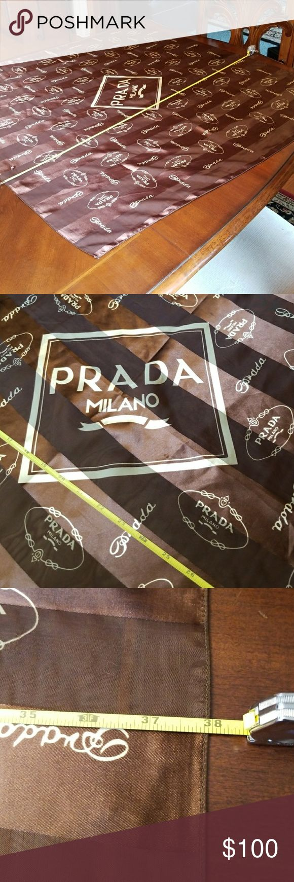 Prada scarf made in France. 100% Polyester It's good condition. I don't see any holes or stain.. Prada Accessories Scarves & Wraps