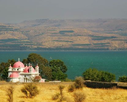 Sea of Galilee--one of the most welcoming and relaxing places on our trip to Israel
