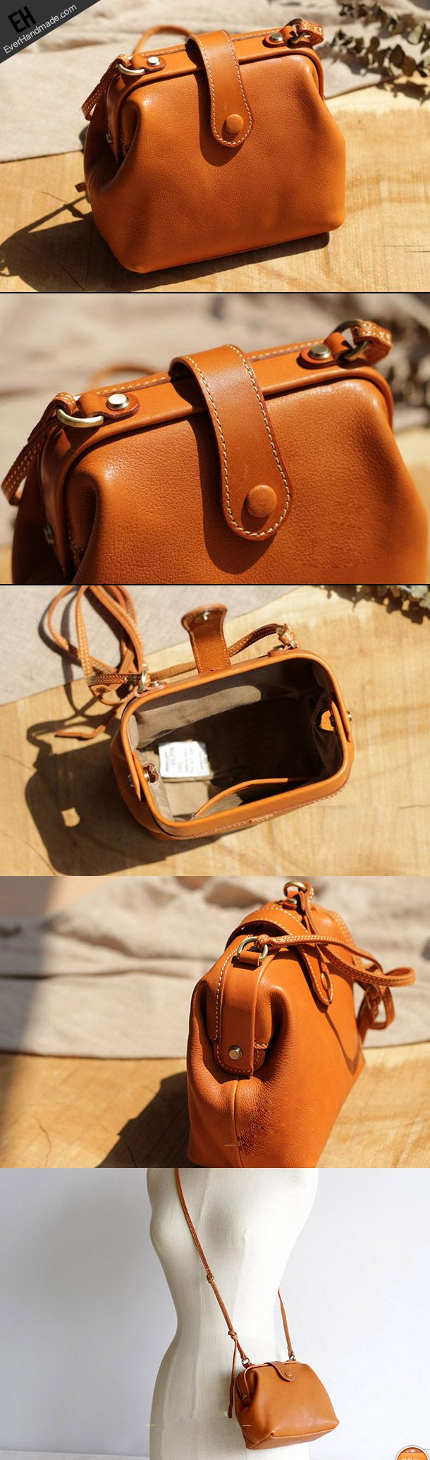 Handmade Leather phone bag for women leather shoulder bag