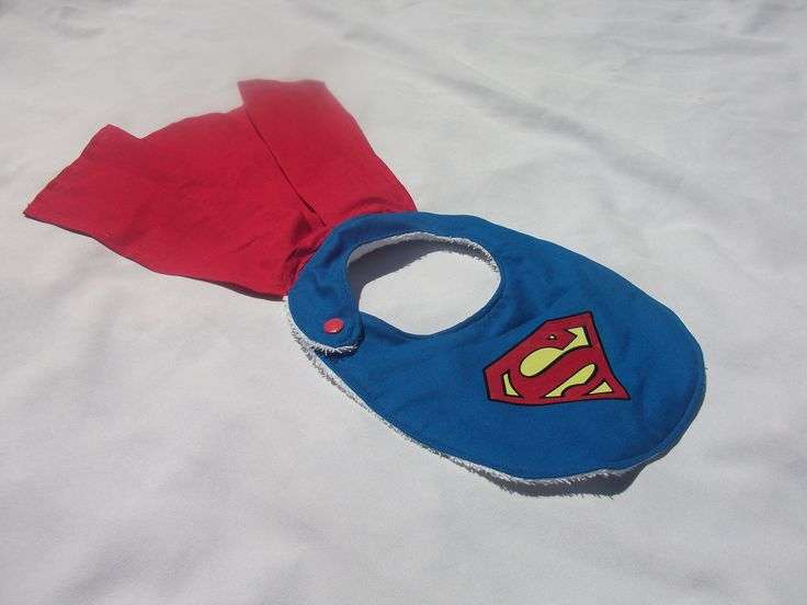 superman, bavoir super-héros bavoir original superman  https://www.facebook.com/BabyChicandChoc