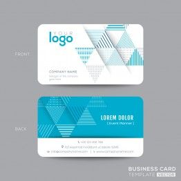 22 best namecard design template images on pinterest carte de free blue triangles name card template accmission Image collections