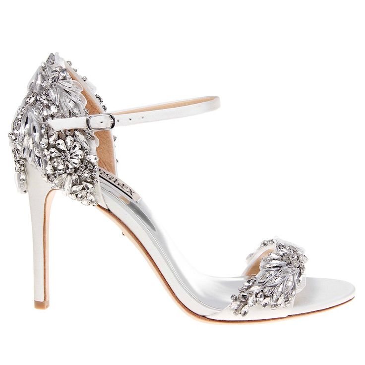 Nice Badgley Mischka Tampa Crystal Encrusted Bridal Sandals