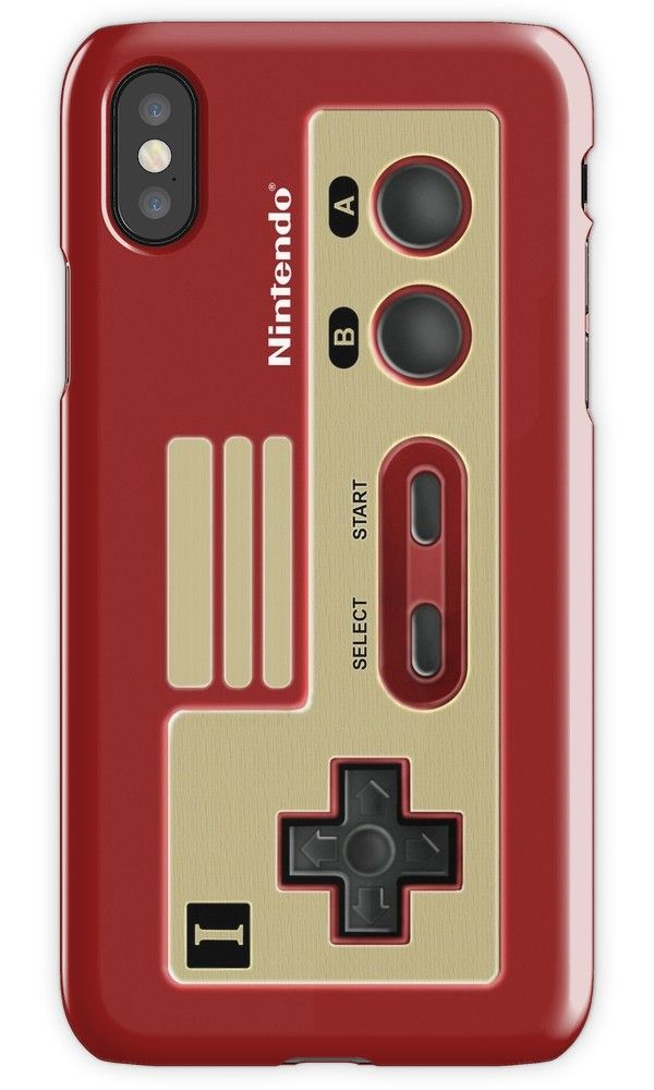 Retro Classic vintage Red Gold game controller iPhone 4, 5, 6, 7,