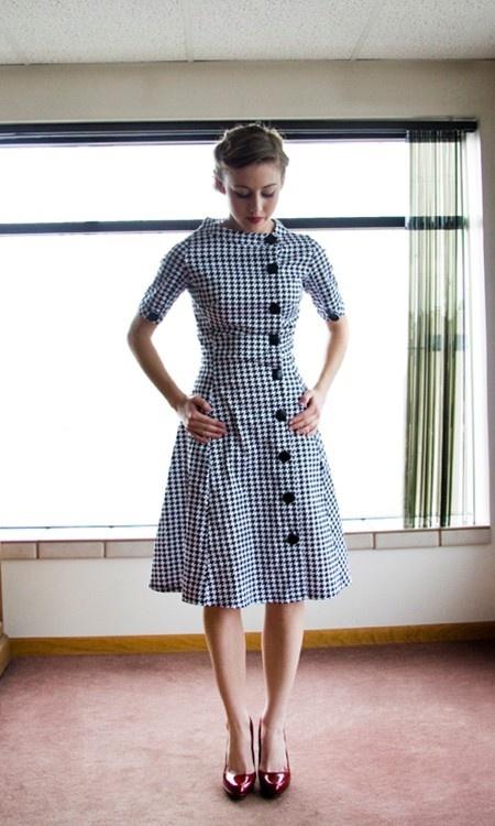 Shabby apple houndstooth dress