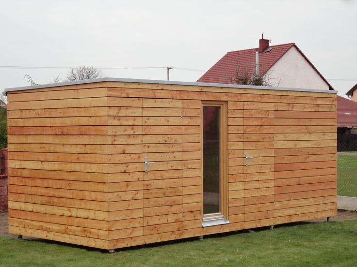 Venkovní sauna NATURHOUSE v kombinaci se zahradním skladem na nářadí.