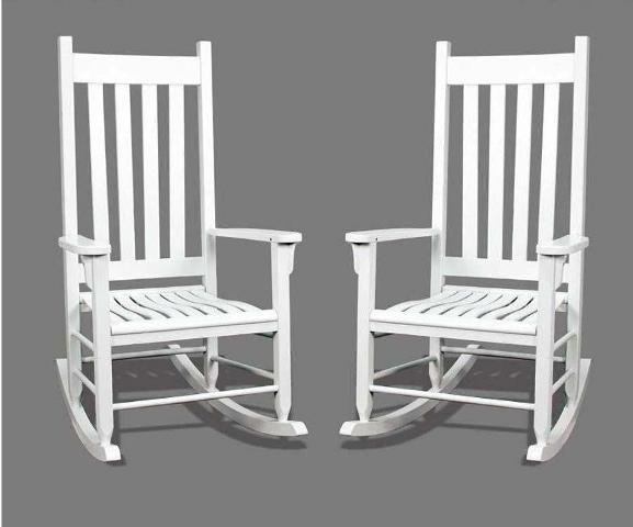 Superb Outdoor White Rocking Chair 577 X 480