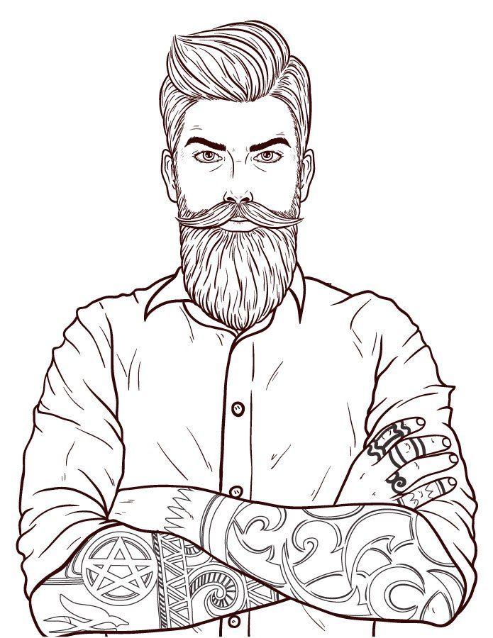 Movember Moustache Dessin Homme Coloriage En Ligne People
