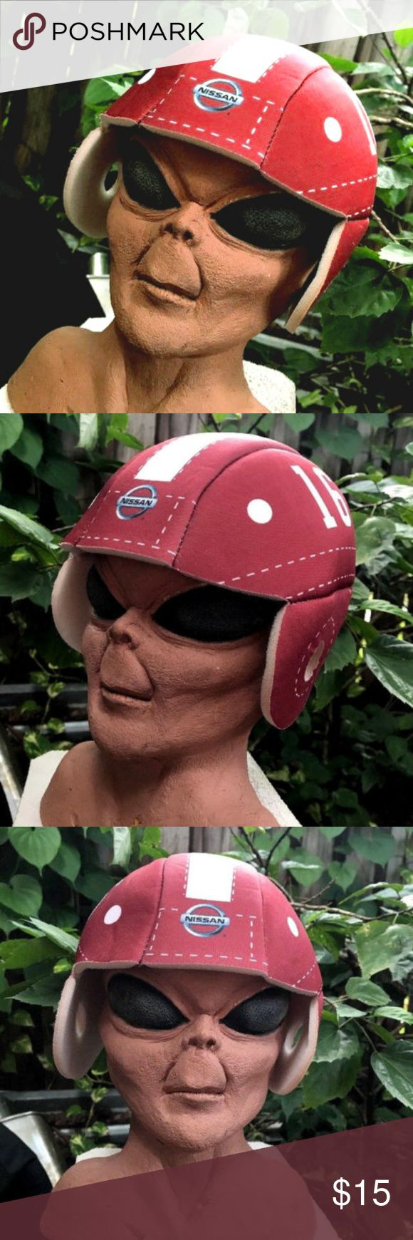 Nissan FSU Football Helmet Heisman Trophy Weinke Very rare novelty PROMO foam NCAA football helmet for Heisman Trophy winner Chris Weinke, #16 for FSU, awarded in 2000. Never worn (I mean, except for when my alien friend was modeling it for this listing!)  All foam helmet well put together, fully stitched and ready for the next football party or pep rally!  Has #16 on the side, stripe down the middle, Nissan logo in the front and Heisman info on the left side. A hard-to-find Seminoles…