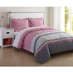 Microfiber Comforter Set - Petal Ogee - Kmart
