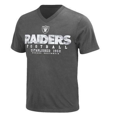 Oakland Raiders Depth Chart V-Neck T-Shirt From Fanzz.com