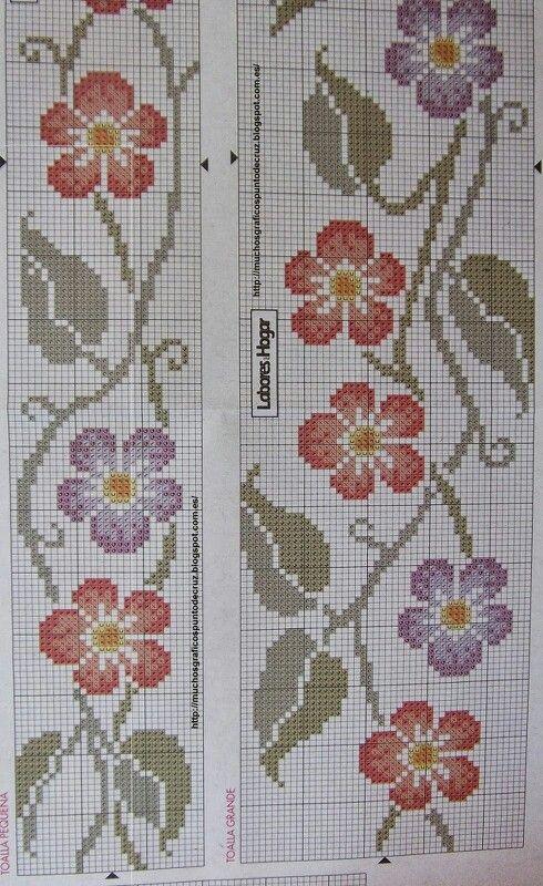Cenefa flores rojas/lilas 2