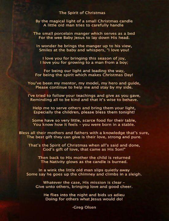 Greg Olsen Poem - Santa & Jesus Christ