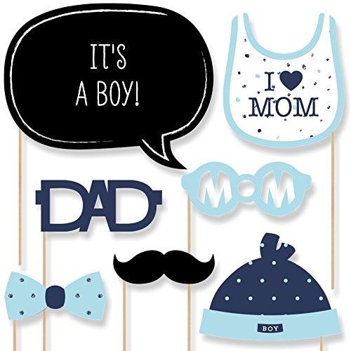 Hello Little One - Blue and Silver - Boy Baby Shower Photo Booth Props Kit - 20 Count Big Dot of Happiness http://www.amazon.com/dp/B01A16F80O/ref=cm_sw_r_pi_dp_gD8Twb1W5X9MK
