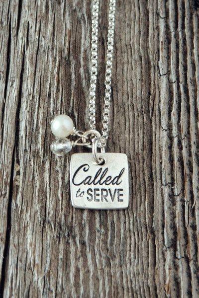 Called to Serve Necklace for Sister Missionaries and Every Missionary Mom #LDS From @charmyoself