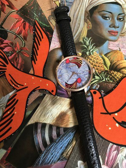 Spiral African Print Watch by ISABIS WATCH. OBSESSED  with ankara. its so wild and bold I need it!