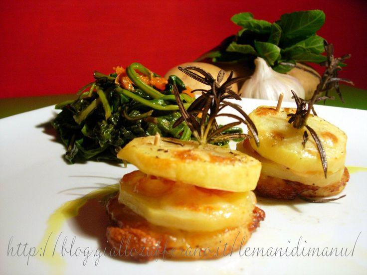 Torrette di patate e bietola selvatica, Ricetta con bieta