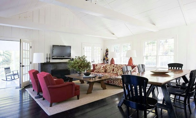 COCOCOZY: COTTAGE CASUAL: Living Rooms,  Eating House,  Eateri, Upstate New York, Country Living, Interiors Design, Shawn Henderson, Cottages Casual, Families Rooms