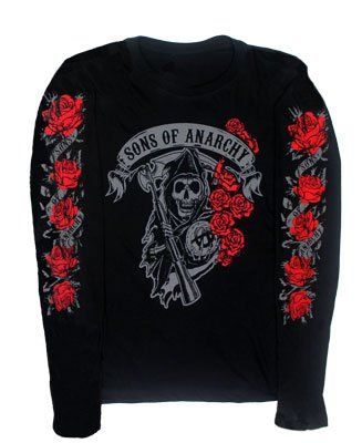 Reaper Roses – Sons Of Anarchy Juniors Long Sleeve T-shirt: Junior Small – Black http://bikeraa.com/reaper-roses-sons-of-anarchy-juniors-long-sleeve-t-shirt-junior-small-black/