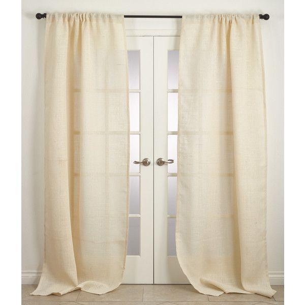 Rustic Burlap Jute Natural Unlined Curtain Panel Reviews Liked