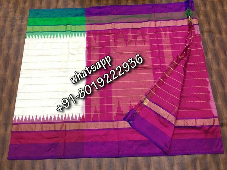 Pure pochampalli ikkat silk saree ready to ship for bookings please WhatsApp us +918019222936
