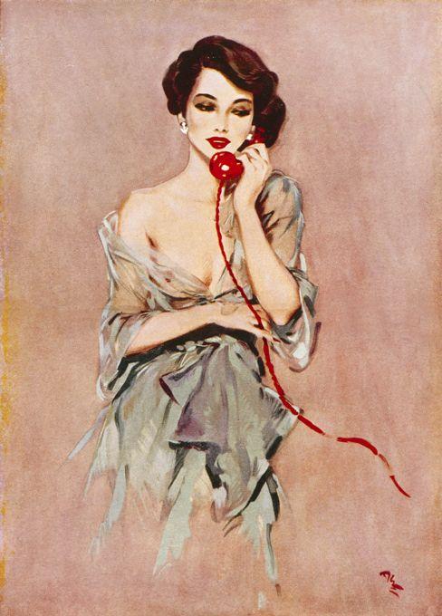 Auburn Hair, Vintage Posters, November, Illustration, Red Lips, David Wright, Pinup Girls, Vintage Art, Pin Up Girls