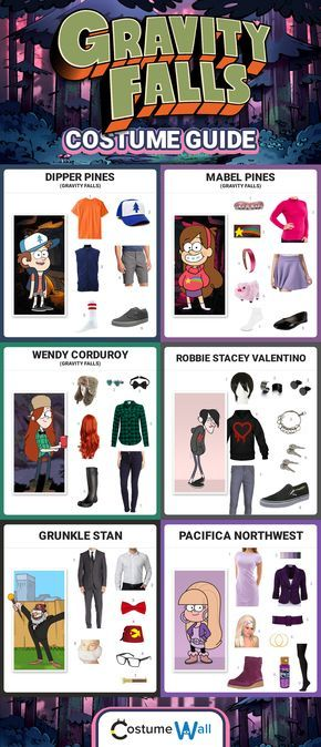 Check out these costume guides and dress like your favorite Gravity Falls characters for Halloween, including Dipper Pines, Mabel Pines, Wendy, Robbie, Grunkle Stan and more.