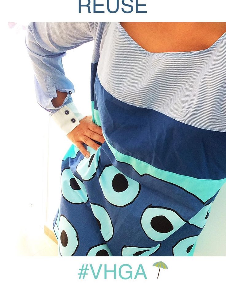 #dress made of #recycledmaterial old #mensshirt #recycle #recycled #reciclaje #reciclajecreativo #reciclajeconestilo #hechoamano #handmade #sewing #coser #style #moda #fashion  #midiseño #mydesign #sustainable #sustainableliving #sustanible #sustaniblefashion #vhga #granalacant #santapola #vestido #ethicalfashion #reusedmaterial #reuse