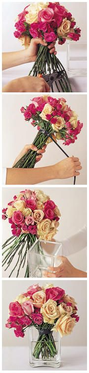 DIY Wedding Flowers: Homemade Centerpieces - Wedding Planning - DIY Do it Yourself Weddings