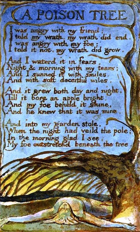 william blake a poison tree essay Analysis of a poison tree essaysin choosing save your essays here so these characteristics are exceptionally evident in william blake's poem a poison tree.