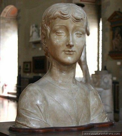 Desiderio da Settignano - Busto di giovane - Firenze, Museo Nazionale del Bargello
