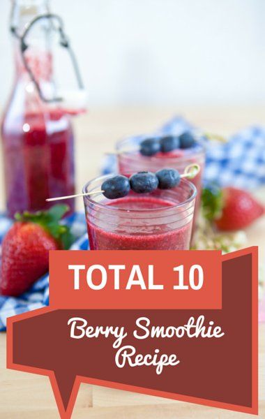 Dr. Oz Total 10: Berry Smoothie Recipe & Chocolate Almond Smoothie