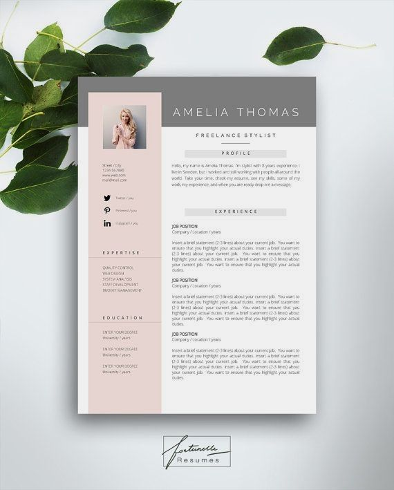 Welcome To Fortunelle Resumes In Our Shop You Can Get High Quality Modern And Elegant CV Templates That Are Drawn By Professional Designer