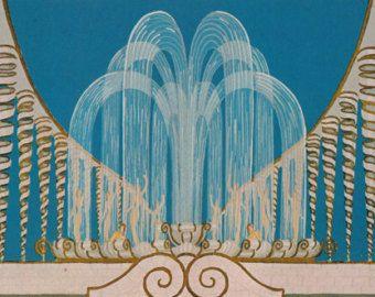 Erté Print Book Plate 1920's Art Deco Dress Design