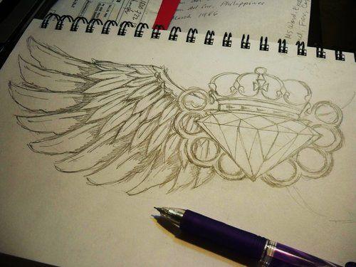 diamond, draw, and tattoo image