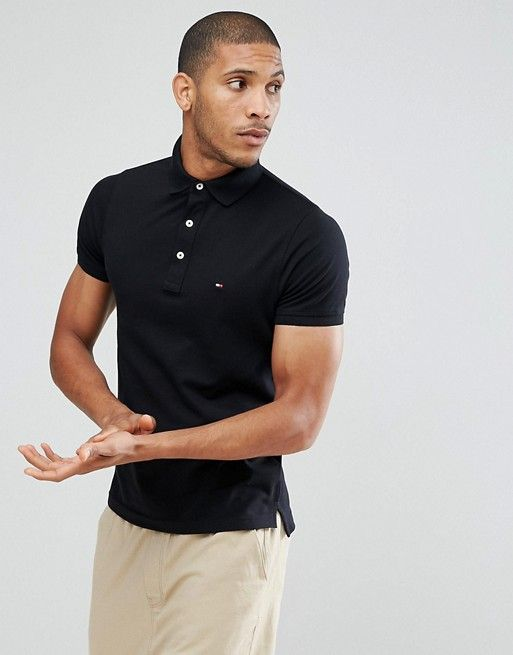 f4a7ba8e Tommy Hilfiger slim fit polo in black | casual dressed men | Tommy ...