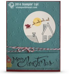 CARD: Holiday Home Santa's Sleigh | Stampin Up Demonstrator - Tami White - Stamp With Tami Crafting and Card-Making Stampin Up blog