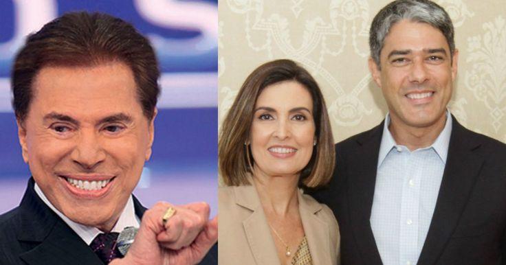 Silvio Santos ironiza divórcio de Fátima Bernardes e William Bonner'Desconfiei' - Purepeople.com.br