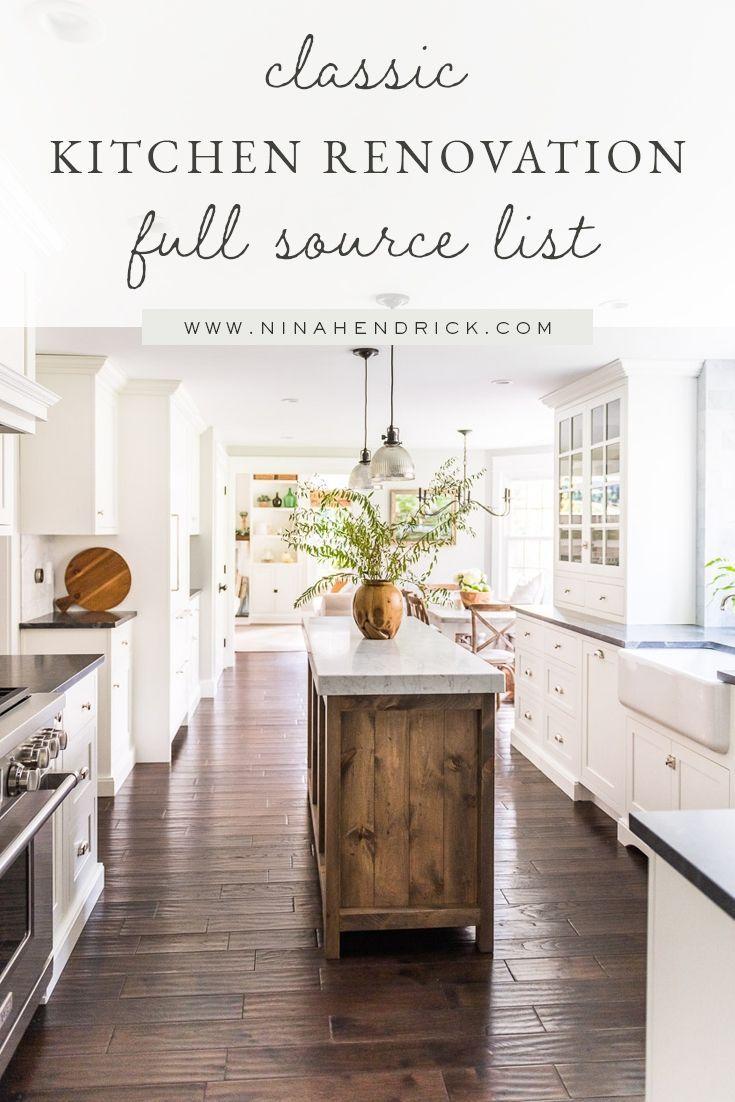 Classic Kitchen Renovation Source List Kitchen Decor Kitchen