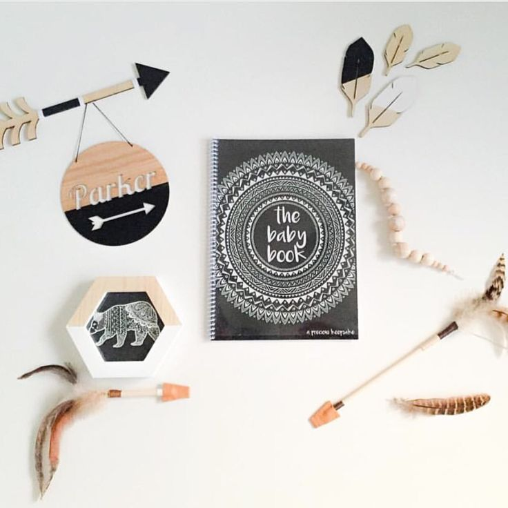 Monochrome Boho Baby Newborn Keepsake Memory And Milestone Gender Neutral  Book Baby Shower Gift Www.