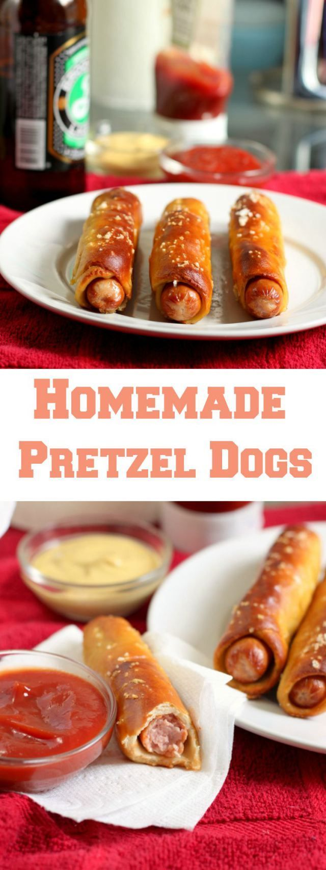 Pretzel Dogs - Bring the ballpark food to your home with this tasty recipe!