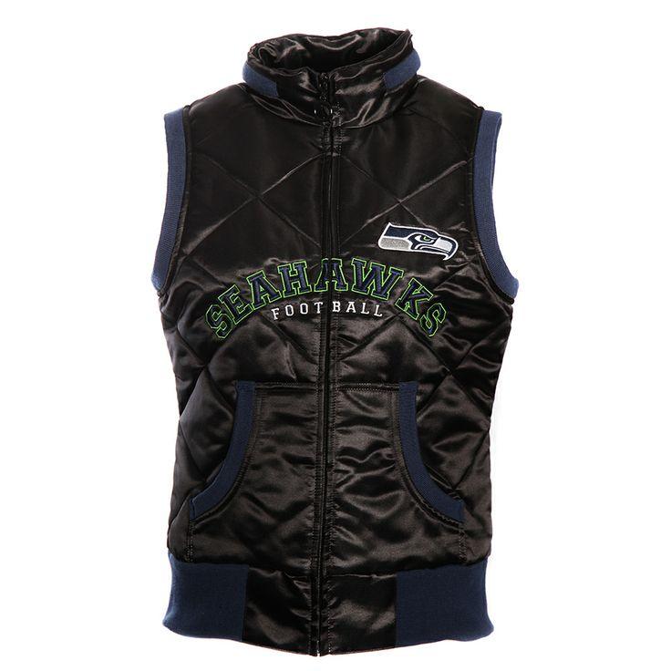 Seattle Seahawks NFL Ladies Love Football Vest (Black/Blue)