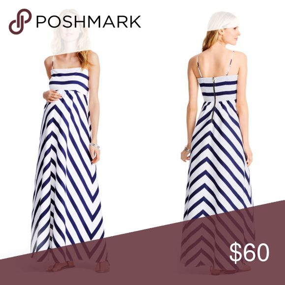 Jessica Simpson Maternity Maxi Dress Blue and white striped dress.  Worn once to a wedding. Jessica Simpson Dresses Maxi